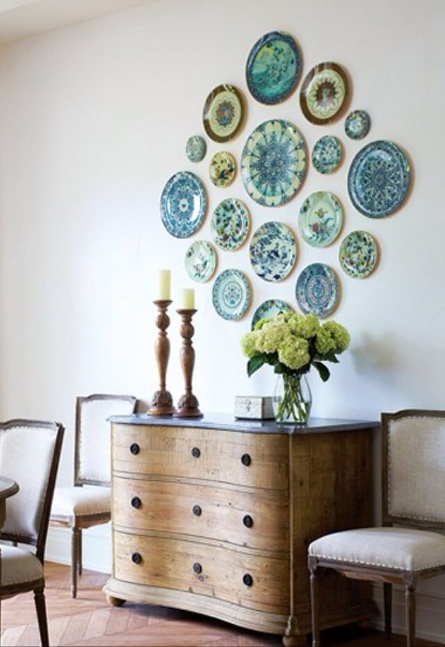 Wall Decor Placement Ideas : Plate arrangements wall ideas