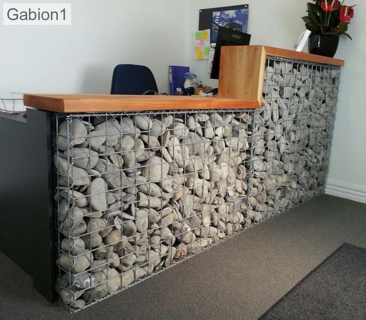 Gabion reception counter diy retaining wall gabion wall