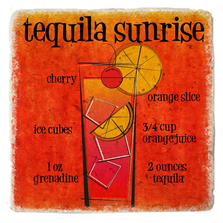Cocktail Tequila Sunrise