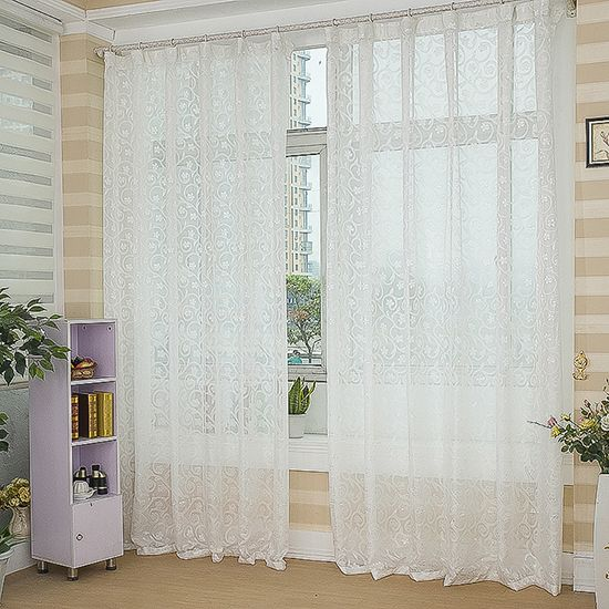 Cortinas blancas para salas para m s informaci n ingresa for Cortinas de living