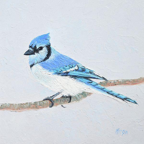 Blue Jay painting  #BlueJays #birdart