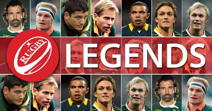 Some of South Africa's most legendary rugby players of all time: