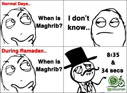 During Ramadhan... LOL, this is so true