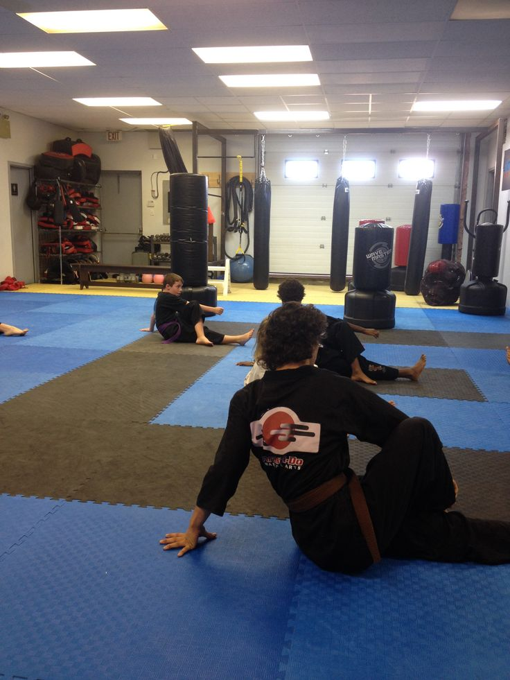 Warming up for Sunday morning ATP/Black Belt Club class!