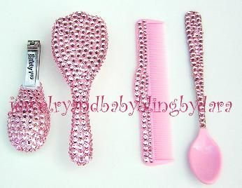 Swarovski Crystal Baby Bling! My future nieces must have this!:)