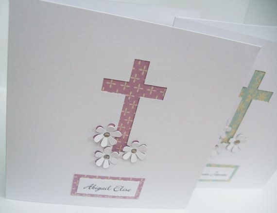 Personalised Christening Card  Baptism Card  Paper by Nikelcards, £3.60