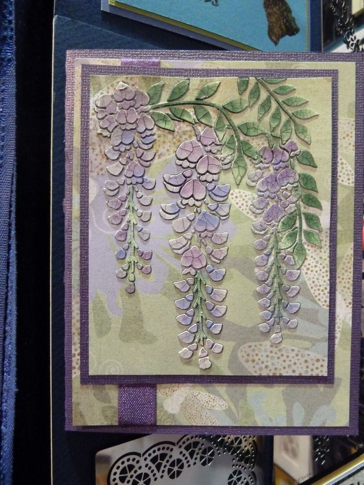This card was made with embossing paste and Dreamweaver Stencils