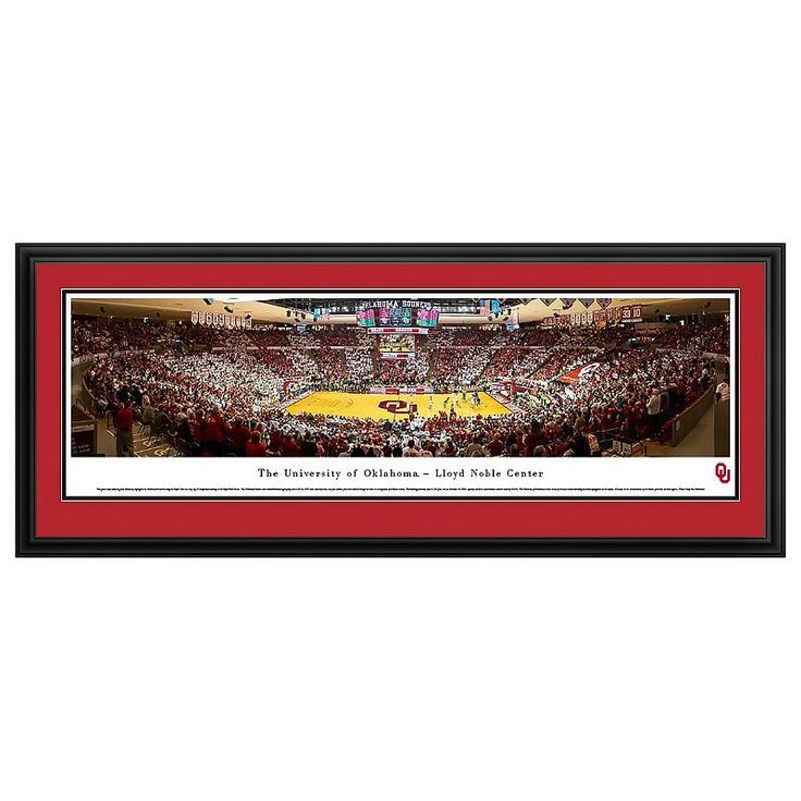 Oklahoma Sooners Basketball Arena Framed Wall Art, Multicolor