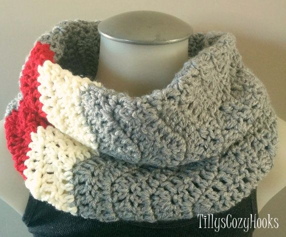 FREE SHIPPING Crochet Cozy Cowl Sock Monkey by TillysCozyHooks #chevroncowl#cozycowl#infinitycowl #infinityscarf#chevronprint#winterstyle #ladiesfashion#ladiesstyle#winterfashion #winterstyle#womensfashion#womensstyle #crochetcowl#knittedcowl#winteraccessories #fallfashion#fallstyle#autumnstyle #autumnfashion #sockmonkey #sockmonkeyprint