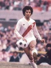 """César Augusto Cueto Villa (born 6 June 1952 in Lima) is a retired Peruvian attacking midfielder, nicknamed """"El Poeta de la zurda"""" (English: the Left-footed Poet). He played 51 times for the Peru national team between 1972 and 1987 and was part of the squad that won the Copa América 1975.He also competed for Peru at the 1978 and 1982 FIFA World Cup. One of Peru's greatest footballers, Cueto was renowned for his agility, close control and passing range."""