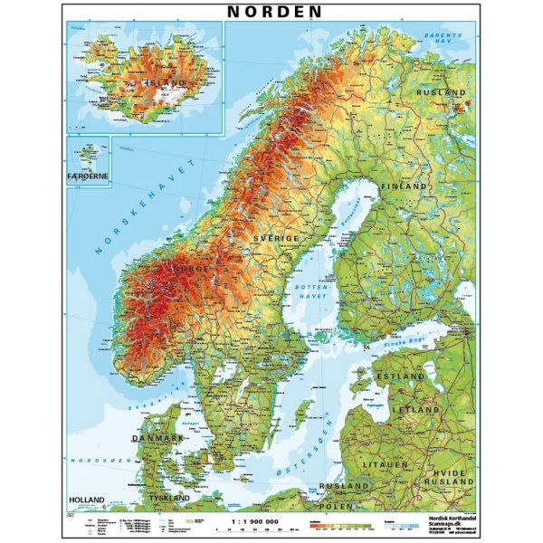 Kort Over Skandinavien Norden Kort Skandinavien Udsmykning