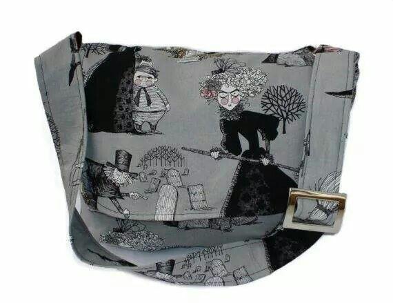 Wicked Ghastlies Messenger Bag - Plus Size - Curvy Fashion - Bold - Unique - Renegade