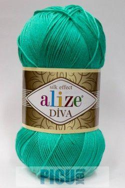Poze Fir de tricotat sau crosetat - Fir microfibra ALIZE DIVA TURCOAZ 610