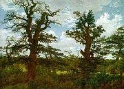 "New artwork for sale! - "" Landscape With Oak Trees And A Hunter by Friedrich Caspar David "" - http://ift.tt/2AwPLxa"