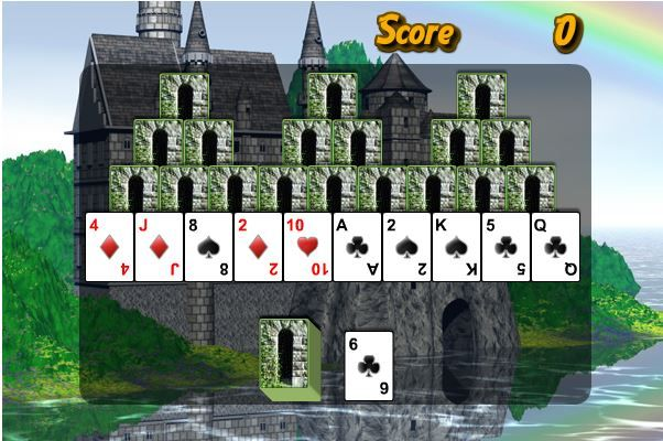 Join the 'elite' in playing a grand game of Tri Peaks Castles - and let the true winner emmerce!