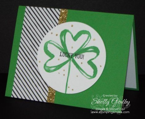 Clean and simple St. Patrick's Day card. Were you looking for a new St…