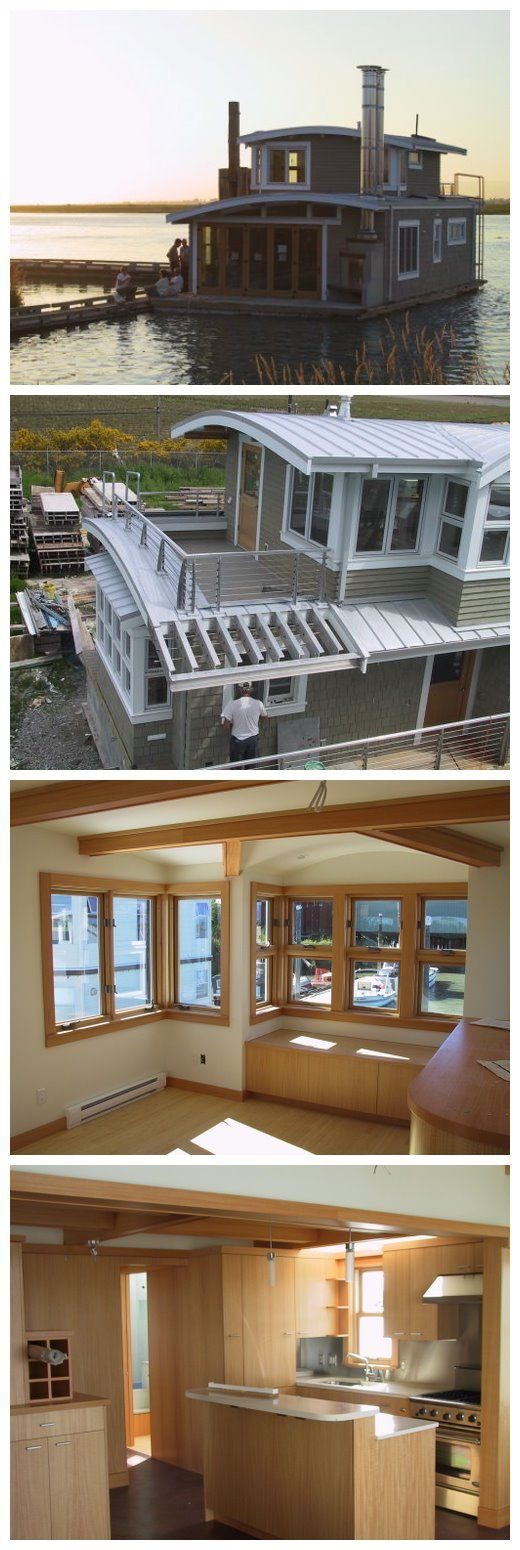"Seattle WA Floathome, Float 20'-4""x42'-6"", House 908 SF, 2 bedrooms, 1.5 baths, Completed Aug. 2002"