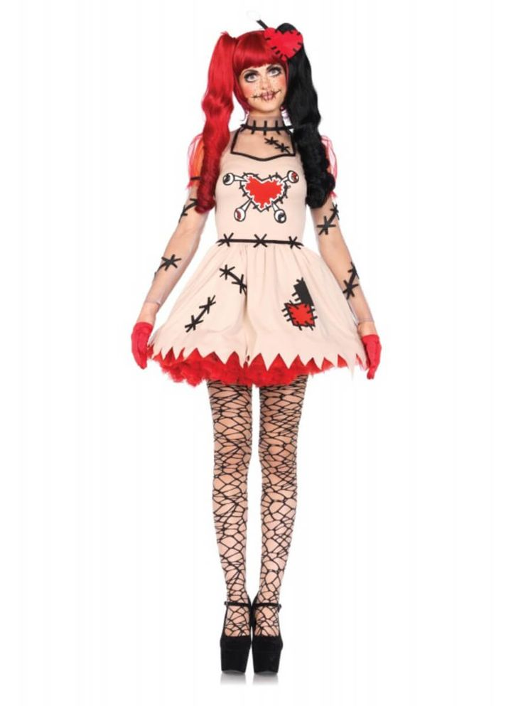 Disfraz de muñeca de vudú para mujer