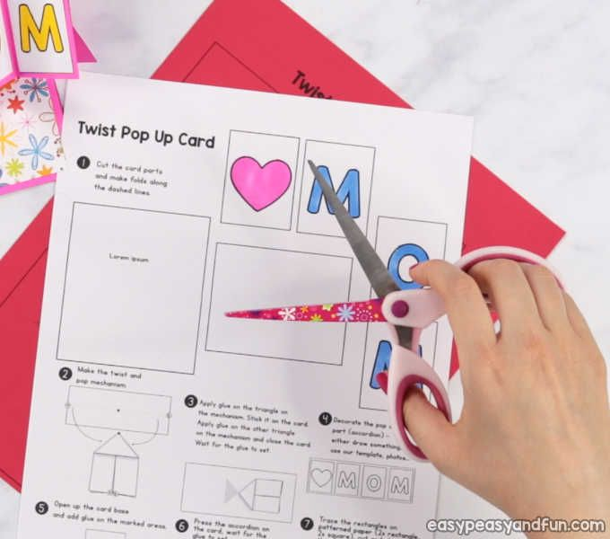 Twist And Pop Mother S Day Card Heart Pop Up Card Pop Up Card Templates Pop Up Valentine Cards