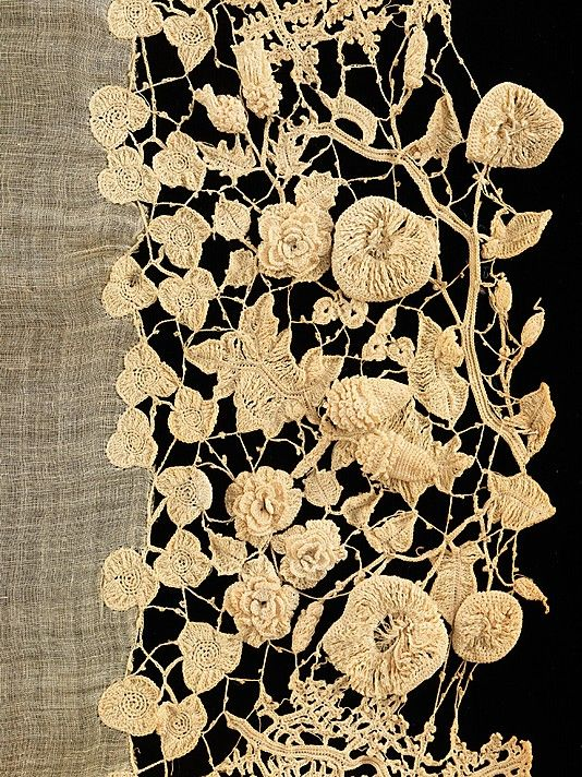 Irish lace c.1850  lostinfiber:    birdcagewalk / focus-damnit: Irish lace (via The Metropolitan Museum of Art)