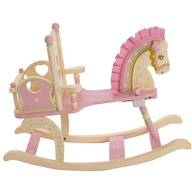 Levels of Discovery Kiddie-Ups Rock-a-My-Baby Rocking Horse, Pink