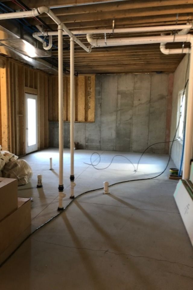 Rough In Basement Plumbing New Home Construction Build Your Own