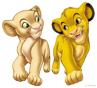 Simba and Nala as cubs!