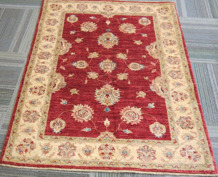 "NR: 20636 Location: Chobi Ziegler  Size: 4'10"" x 3'6"" Country: Afghanistan Pile: Wool Base: Cotton"