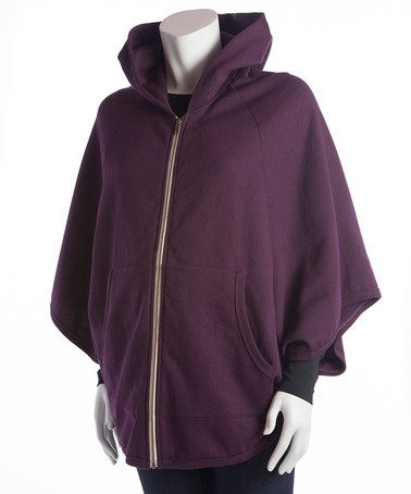 Look what I found on #zulily! Plum Katie Maternity Zip-Up Hoodie by Baby On Board Apparel #zulilyfinds