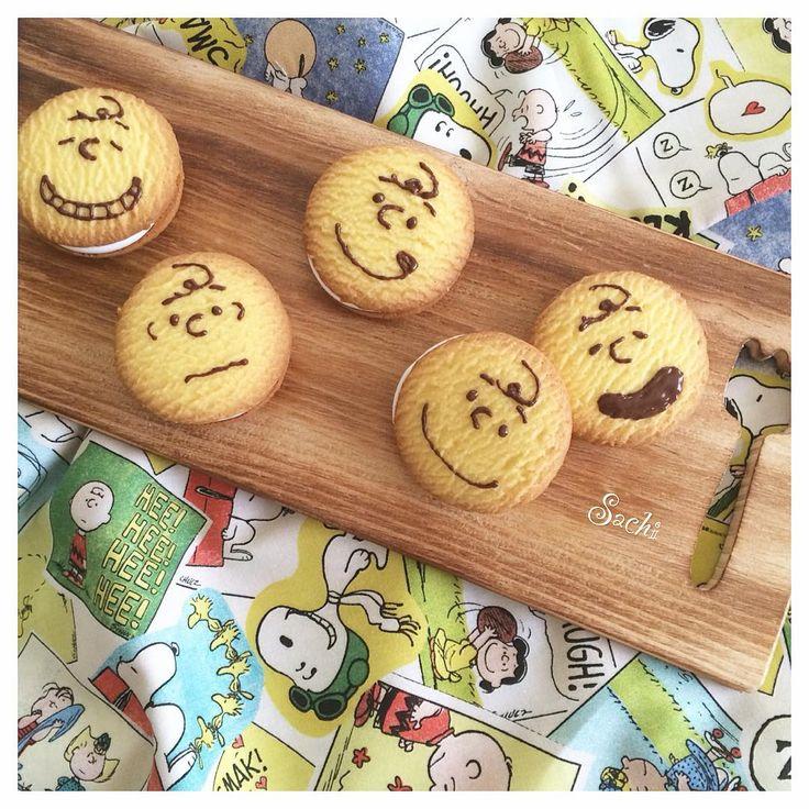 ❤︎ 子どもたちの#おやつ♡ ⁑ 市販のクッキーでマシュマロをサンド♪ #マシュマロサンドクッキー ⁑ ⁑ #手作りおやつ#簡単おやつ#スイーツ#マシュマロ#クッキー#ムーンライト#キャラクッキー#キャラフード#チャーリーブラウン#ピーナッツ#チャーリーブラウンクッキー#デリスタグラマー#ロカリキッチン#homemade #homemadesweets #marshmallow #cookies #snoopy #charliebroun #sweets #food #delistagrammer #lin_stagrammer #locari_kitchen #kaumo_kitchen #