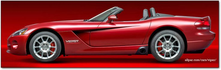 2008 - 2010 Dodge Viper cars: 600 horsepower