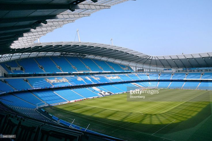The interior of the City of Manchester Stadium, the home ground for Manchester City football club, in Manchester, U.K., Thursday, May 3, 2007. Thaksin Shinawatra, the former Thai Prime Minister who tried to buy Liverpool three years ago, said he made a proposal to acquire Manchester City, the English Premiership soccer club that last won a trophy 31 years ago.