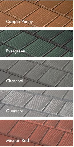 Here Are Just A Few Of Your Color Choices For KasselWood Steel Roofing.  Wouldnu0027