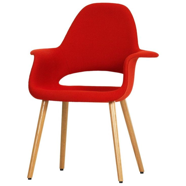 Vitra Organic Conference Chair in Red Chilli by Charles