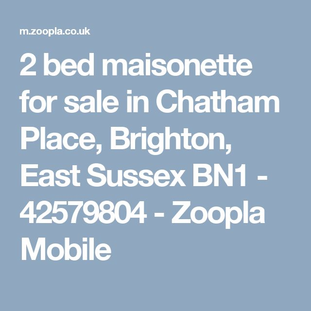 2 bed maisonette for sale in Chatham Place, Brighton, East Sussex BN1 - 42579804 - Zoopla Mobile