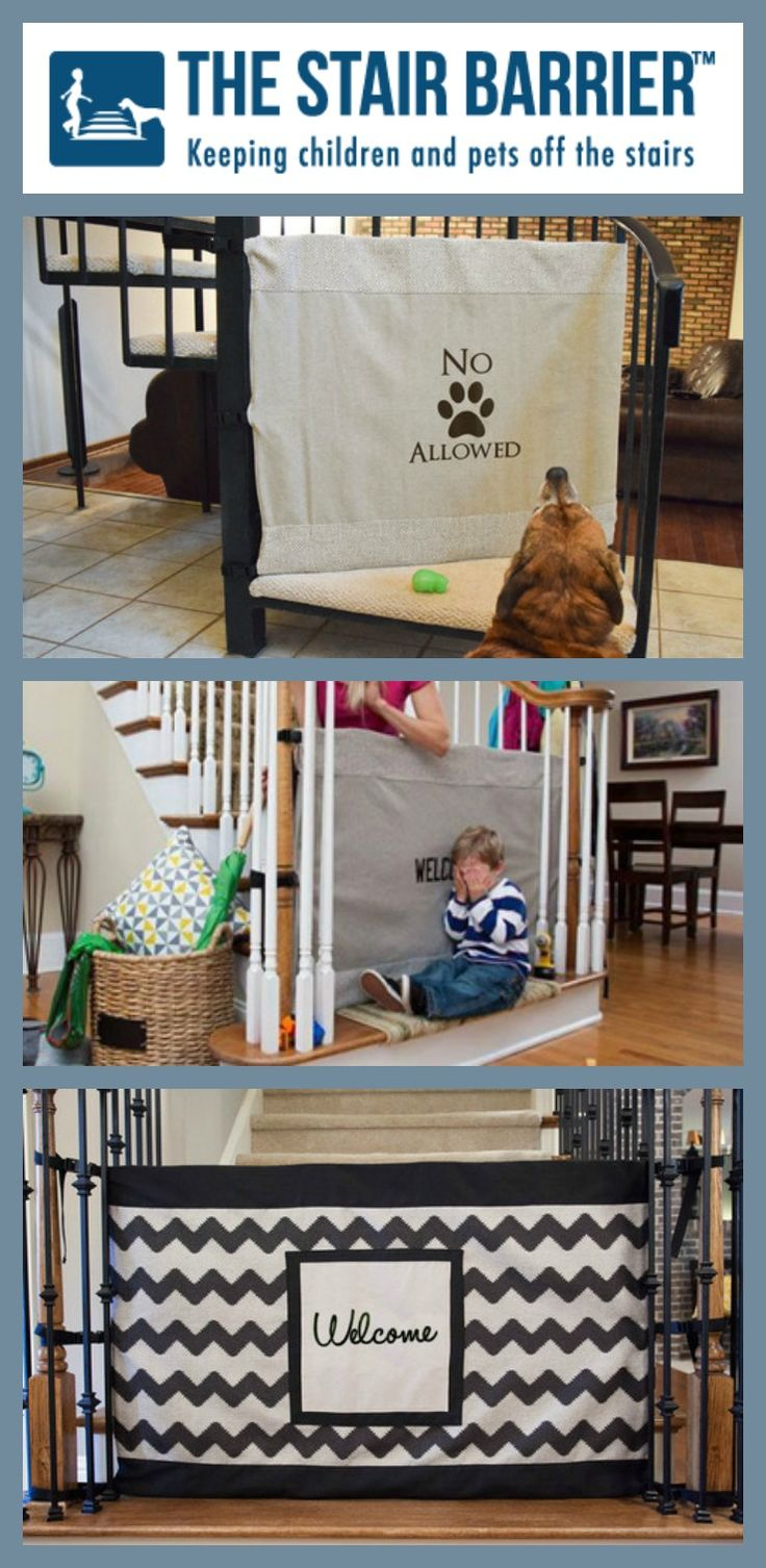 The Stair Barrier Is An Innovative Alternative To The Traditional Baby Gate.  Itu0027s A Stylish Fabric Safety Gate That Rolls Away Neatly When Itu0027s Notu2026