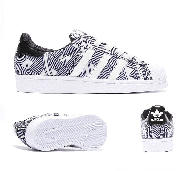 Adidas Originals Womens Superstar Trainer | Black / Off White | Footasylum