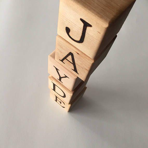 Custom Wood Blocks Baby Name Blocks Wood Alphabet Blocks