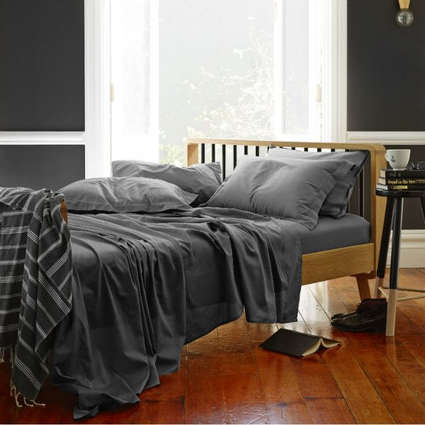Classic Luxe Bed Sheet Set In Storm from Sheets on the Line