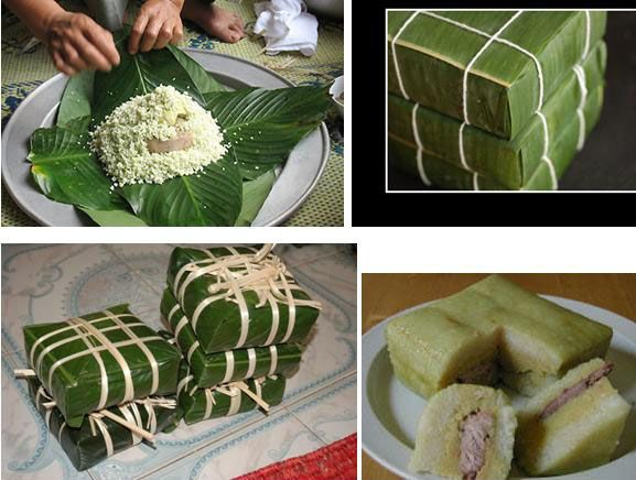 Bahn chung . slavnostní vietnamské jídlo