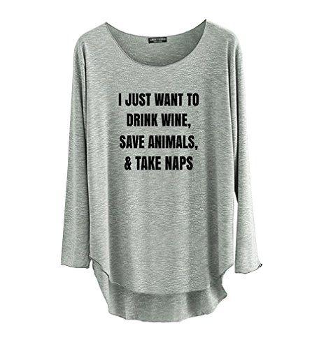 TeeMixed Women Long Sleeve T-shirt - Grey TeeMixed http://www.