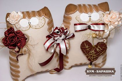Купить или заказать Коты Неразлучники в интернет-магазине на Ярмарке Мастеров. Все как у людей-счастливая пара, держащаяся за руки, фата и цветы! Ну чем не оберег для двух любящих сердец?!
