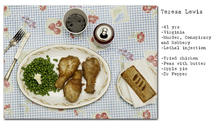 """""""No Seconds"""" -- Photographer Henry Hargreaves' series examining the last meal requests of Death Row prisoners"""