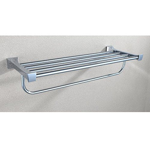 kes a3310 bathroom chrome shelf and towel rack solid metal posts with towel bar hotel