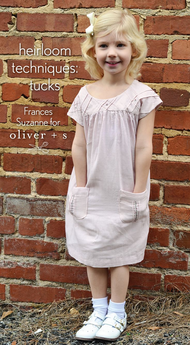 Tucks applied to the Oliver + S Ice Cream Dress