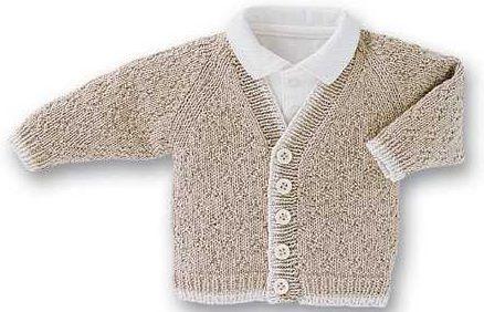 2013 koyu krem örgü erkek bebek hırka modeli