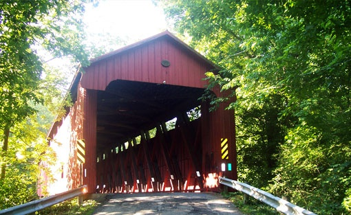 Historic Covered Bridge Closes! Batavia, Ohio ...