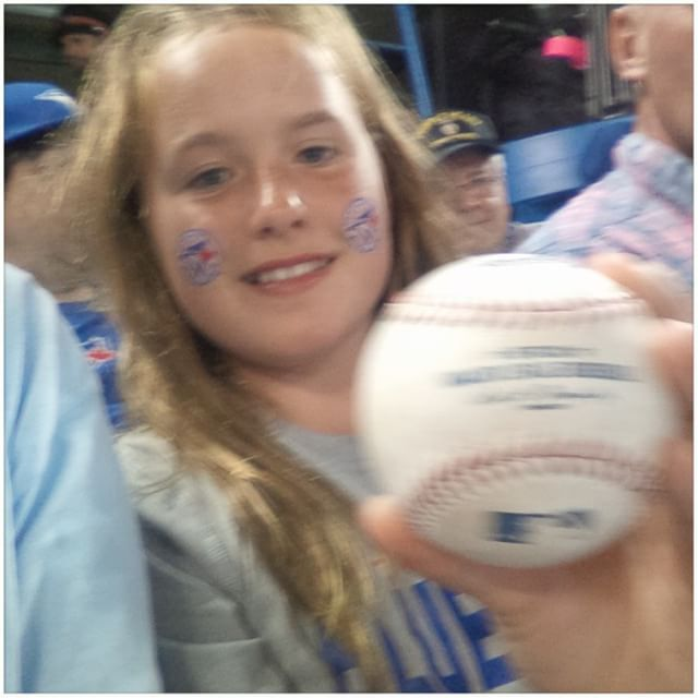 My new #bestfriend at #skydome. It feels good to make #children happy. OK #bluejays.