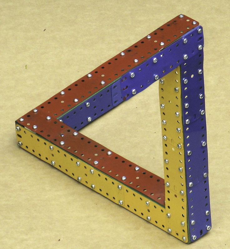 Meccano Penrose Triangle By Neil Spears