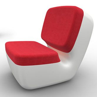 Nimrod Low Chair 2009 Marc Newson, blow-moulded polyethylene & polyurathane, Magis 86 cm x 62 cm x 40/80.5 cm